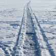 A road on a frozen lake — Stock Photo