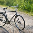 Old dutch retro bicycle on the road in a rural area — Stock Photo