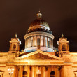 Foto Stock: Saint Isaac's Cathedral in Saint Petersburg by night