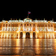 Winter Palace (Hermitage) Saint Petersburg city by night — Stockfoto #32826235