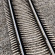 Railroad track close-up — Stock Photo #32826851