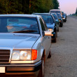 Car waiting line — Stock Photo