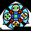 Luteran church window — Stock Photo