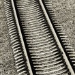 Railroad track close-up — Stock Photo #32827943