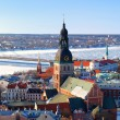 Areal view on Riga, Latvia — Stock Photo