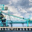 Fuel terminal industrial buildings in cargo port of Ventspils — Stock Photo