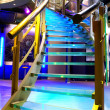 Illuminated staircase — Stock Photo