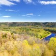 Spring landscape in Sigulda, Latvia — Stock Photo