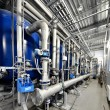 Stock Photo: Large industrial boiler room