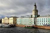 General view on Saint-Petersburg embankment — Stock Photo