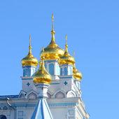 Chiesa ortodossa a daugavpils, lettonia — Foto Stock