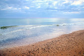 Baltic sea shore. Ventspils, Latvia — Stock Photo