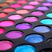 Eye shadows make-up palette close-up — Stock Photo