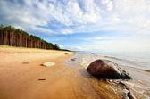 在拉脱维亚波罗的海岸 — 图库照片