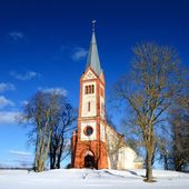 Old Lutheran church in Krimulda, Latvia — Stock Photo