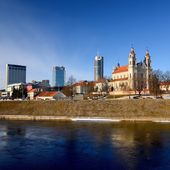 Vilnius city, business part of city — Stock Photo