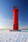 Lighthouse in winter — Stock Photo