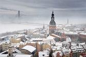 地域观雾,拉脱维亚里加 — 图库照片