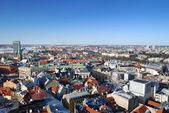 Areal vista sulla città di riga, lettonia — Foto Stock