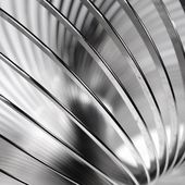 Metal slinky toy close-up — Stock Photo