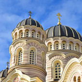 Orthodox cathedral in Riga, Latvia — Foto Stock