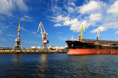 Porto de carga. ventspils terminal, letónia — Foto Stock