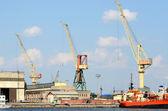 ベンツピルス、larvia の貨物ターミナル — ストック写真