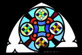 Luteran church window — Stock Photo