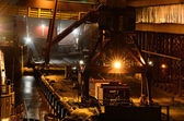 Industrial night scene at the cargo port — Стоковое фото