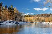 Gauja river valley winter landscape. Sigulda, Latvia — Stock Photo