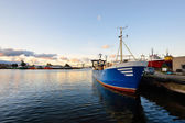 Fishing boat fleet at the port of Ventspils — Stock Photo