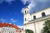 часть старого города в варшаве — Стоковое фото