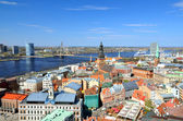 一般视图上里加,拉脱维亚 — 图库照片