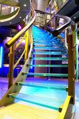 Illuminated staircase — Stock Photo