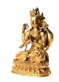 Golden buddha statue close-up — Stock Photo