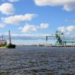 Cargo port. Ventspils terminal, Latvia — Stock Photo