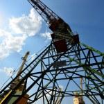 Cargo crane at Riga shipyard — Stock Photo