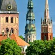 Latvian church towers in Riga — Lizenzfreies Foto