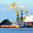 cargo ship loading in coal cargo terminal — Stock Photo #32830389