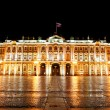Winter Palace (Hermitage) Saint Petersburg city by night — Stockfoto #32830599