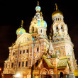 Church of Savior on Blood in Saint Petersburg by night — Stok Fotoğraf #32830641