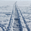 Stock Photo: A road on a frozen lake
