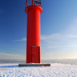 Stock Photo: Lighthouse in winter