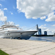 Cruise ship in Riga, Latvia — Stock Photo
