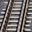 Stock Photo: Railroad track close-up