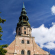 Saint Peter's church in Riga, Latvia — Stock Photo