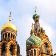 Top of ortodox Church of the Savior on Blood in Sait Petersburg — Stock Photo