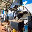 Large industrial boiler room — Stockfoto