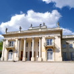 The Lazienki palace in Lazienki Park, Warsaw — Stock Photo
