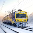 Train in winter — Stockfoto